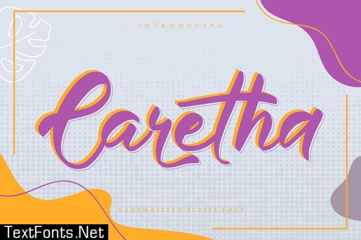 Caretha | Handwritten Script Font