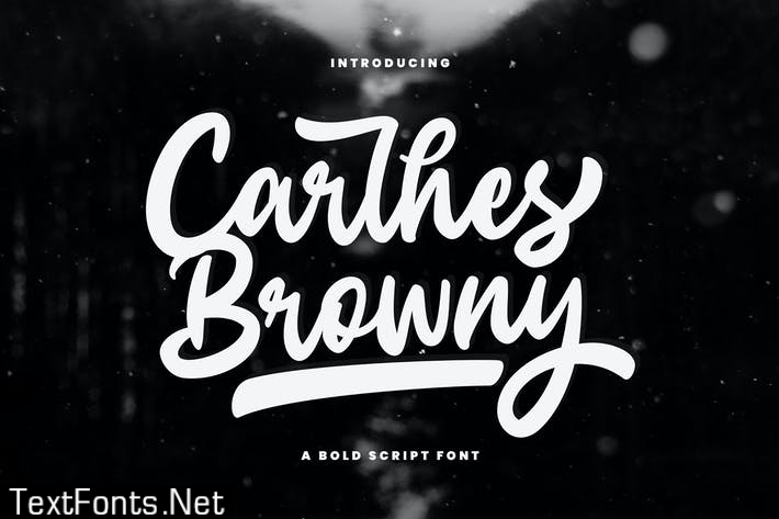 Carlhes Browny Bold script