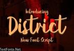 District New Script Font