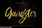 Gangster - Rough Brush Font