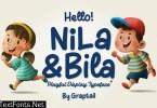 Hello! Nila & Bila Typeface