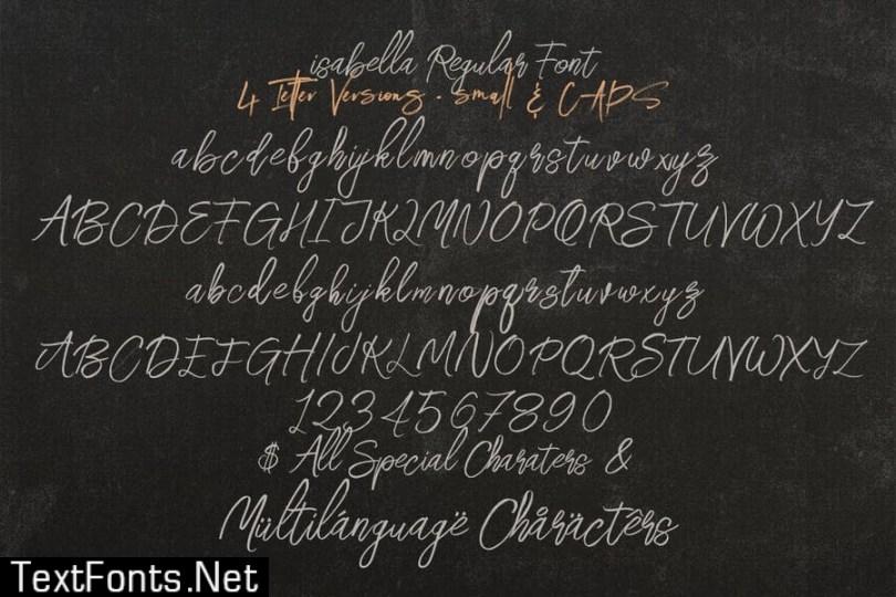 Isabella SVG Script Font