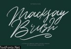 Macksay Display Brush Font Extra Swash