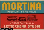 Mortina Font Duo - Display Typeface