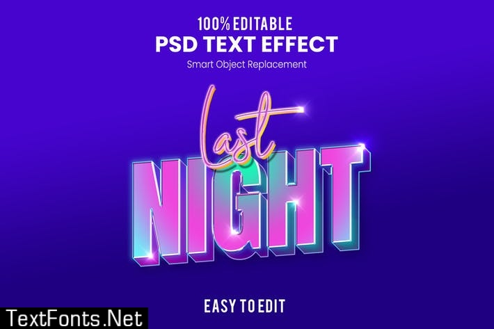 Party 3D Text Effect KTKGD5M