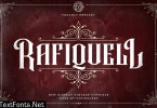 Rafiquell - Victorian Style Font