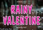 Rainy Valentine Font