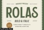 Rolas - Bold and Italic