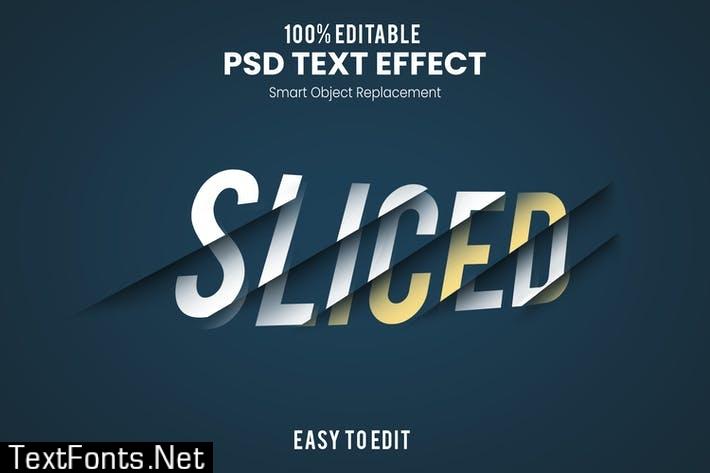 Sliced Layer Text Effect PSD MDQAGLC