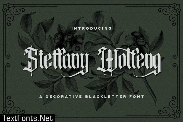 Steffany Wolfeng - Blackletter Font