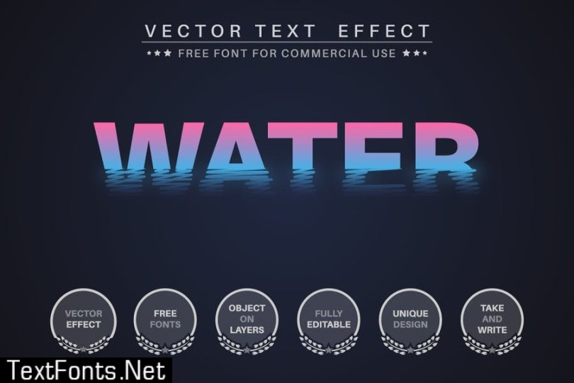 Sunset voyage - editable text effect, font style