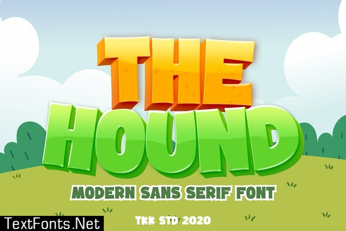 The Hound - Modern cartoon font