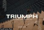 Triumph - Sans Serif Wide Font