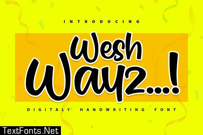 Weshwayz | Digitaly Handwriting Font