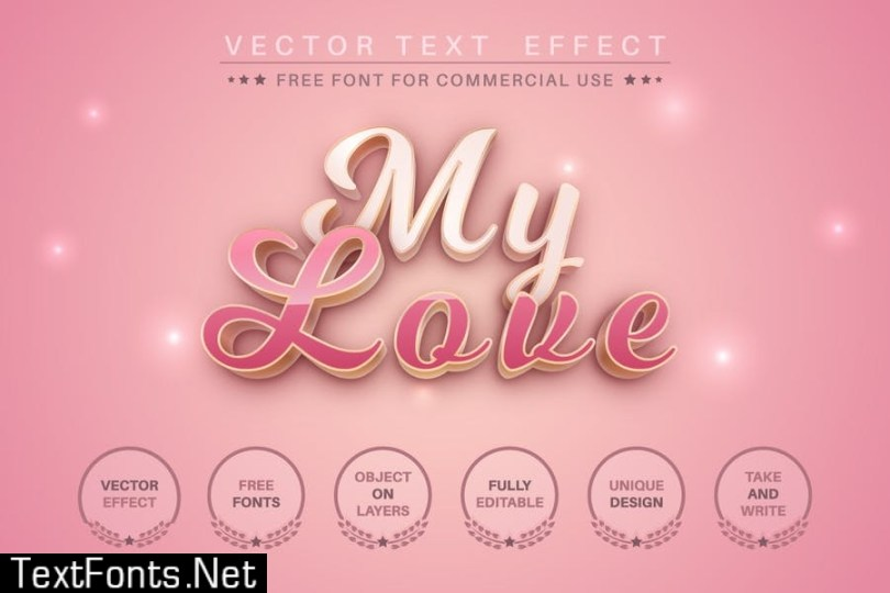 Woman's day - editable text effect for illustrator KGHSJZZ