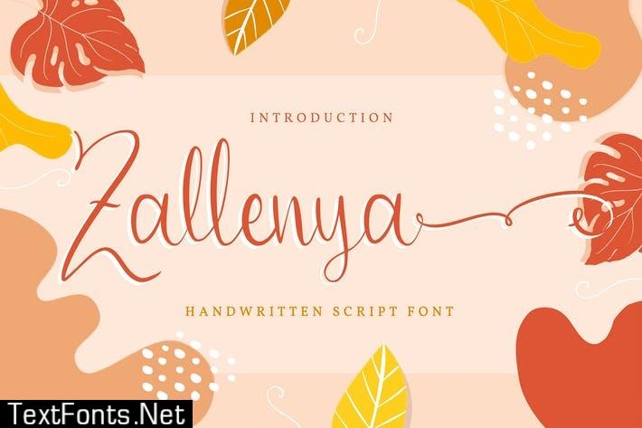 Zallenya | Handwritten Script Font