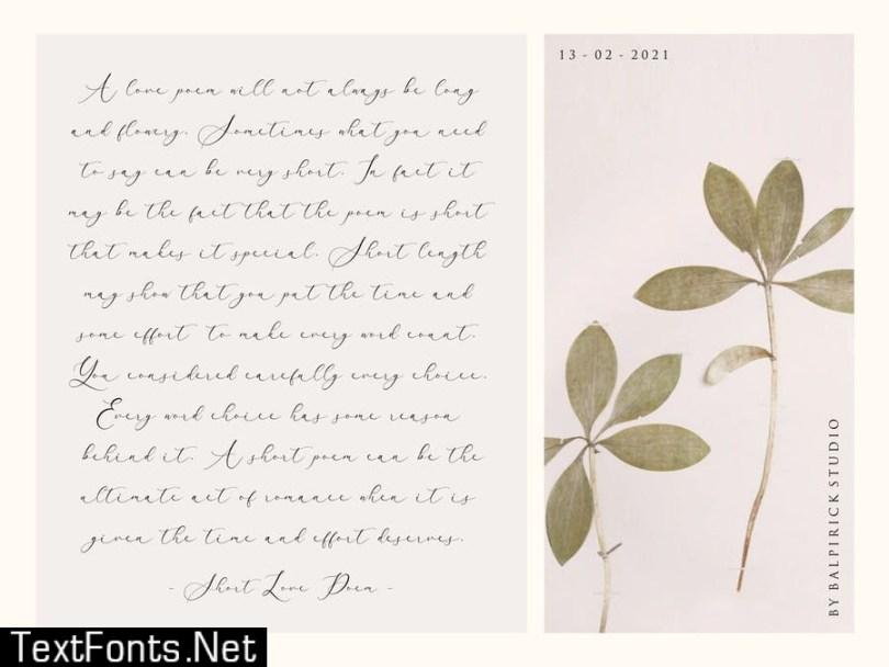 Arletta Script Font YH