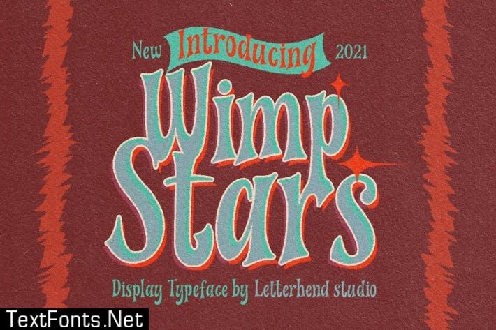 Wimp Stars - Display Typeface