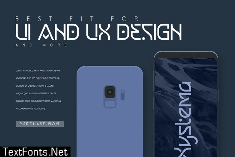 Xystema | Uniquely Hi-Tech Typeface