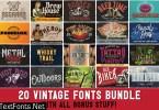 20 Vintage Fonts Bundle