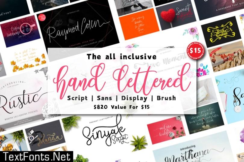 Hand Lettered Font Bundle