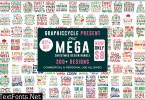 The Mega Christmas SVG Design Bundle