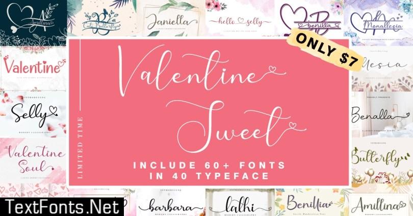 Valentine's Sweet Fonts Bundle