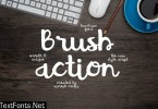 Brush Action Font