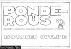 Ponderous Expanded Outline Font