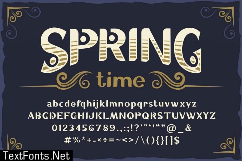 10 Vintage Font Families Bundle 5960738