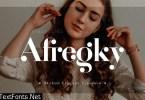 Afregky Font