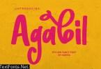 Agabil   Stylish Fancy Font