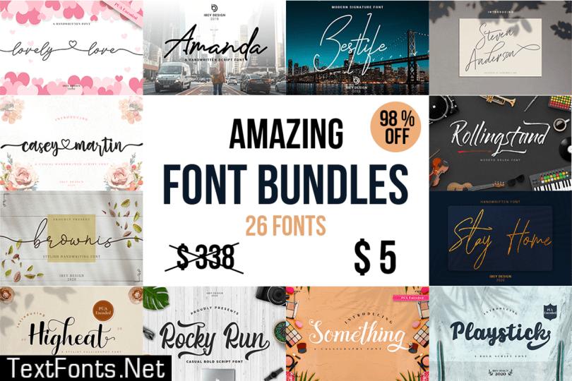 Amazing Font Bundle