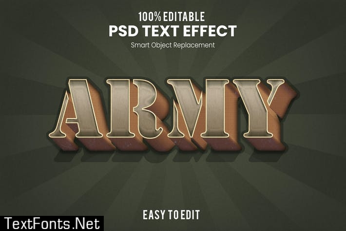 ARMY - Vintage 3D Text Effect