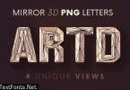 Artdeco Mirror - 3D Lettering