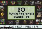 Autism Awareness SVG Bundle