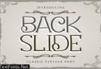 Back Slide   Classic Vintage Font