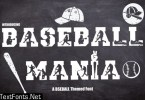 Baseball Mania Font