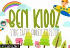 Ben Kidoz - Cute Display Family Font