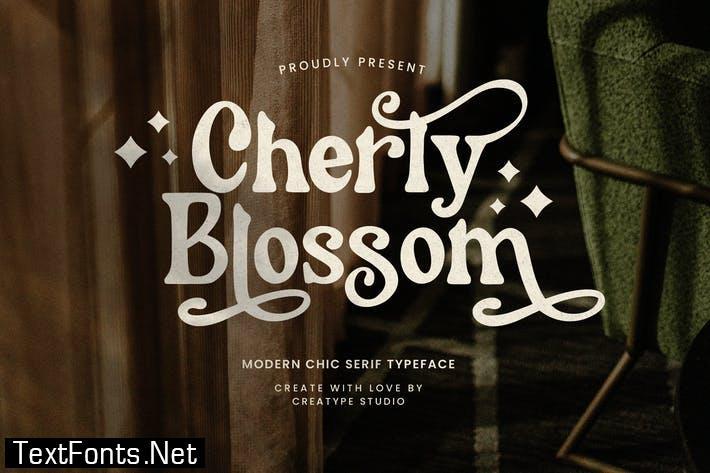 Cherly Blossom Modern Chic Serif