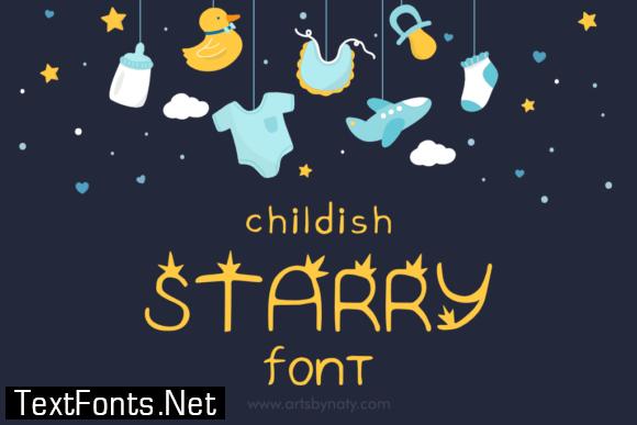 Childish Starry Font