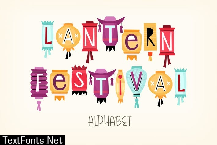 Chinese lantern alphabet