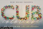 Color Cubes - 3D Lettering