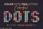 Color Dots - 3D Lettering