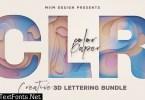 Color Paper – 3D Lettering