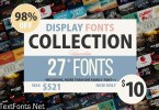 Display Fonts Collection