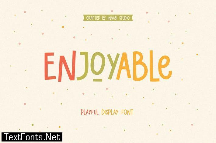 Enjoyable | Playful Font