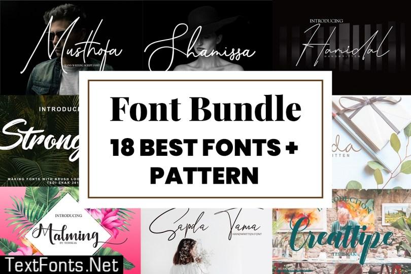 Fonts + Patterns Bundle