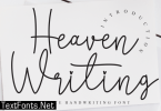 Heaven Writing Font