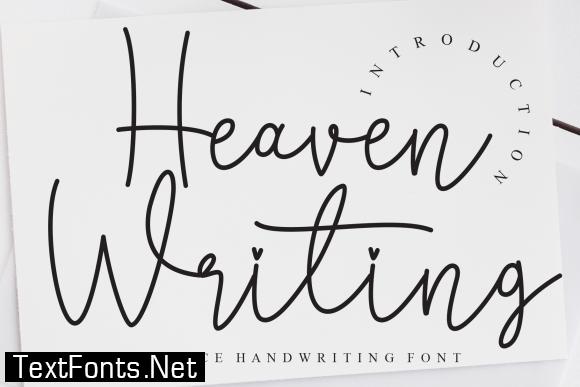 Heaven Writing Font